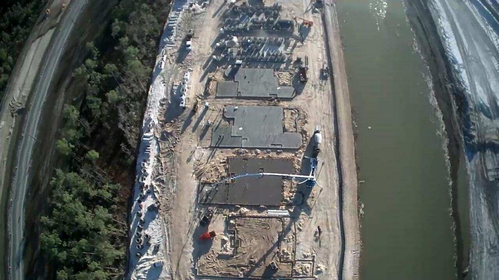 CSCI completing the last slab in a model row at Esplanade Lake Club in Ft. Myers, FL, by Taylor Morrison. This client required expedited scheduling for its new community.